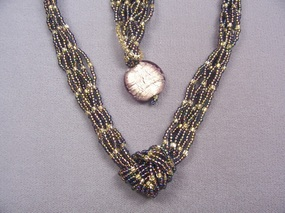 Netted Necklace Class with Seed Beads