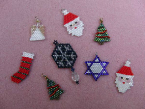 Brick Stitch Holiday and Christmas Earrings Class