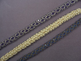 Tubular Netting with Swarovski Crystals or Pearls