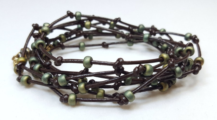 leather wrap bracelet knotted leather