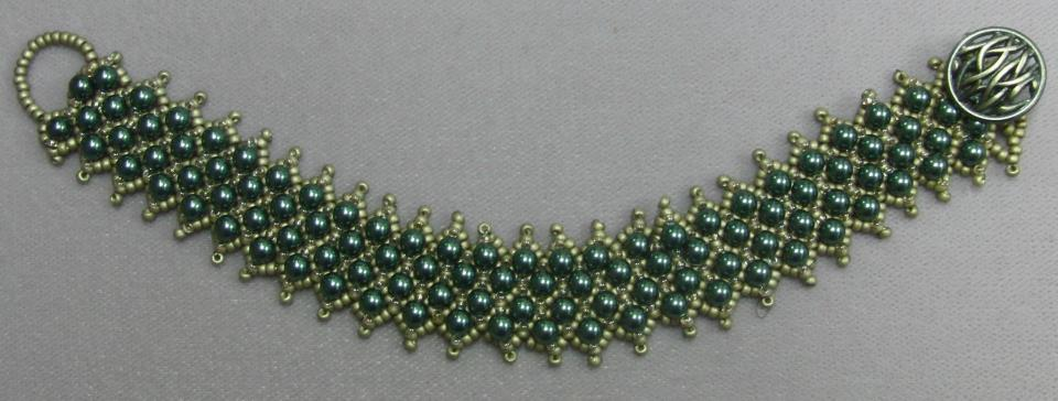 Netted Bracelet with Swarovski Pearls