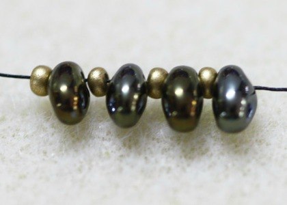Twin Seed Beads on a string