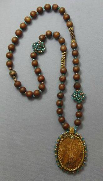 Beaded Beads and Cabochon