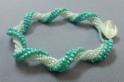 twisted tubular herringbone bracelet