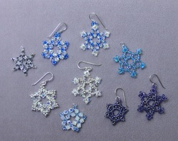 Beaded Crystal Snowflakes