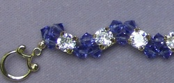 Two Hole Crystal Beads with Swarovski Bicones